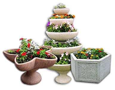 цветочные клумбы из бетона купить